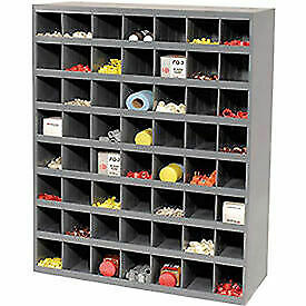 Storage Parts Bin Cabinet With Open Front 56 Compartments