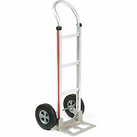 Magliner Aluminum Hand Truck With Curved Handle Semi pneumatic Wheels