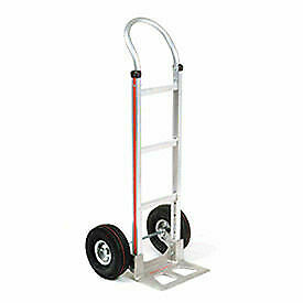Magliner Aluminum Hand Truck With Curved Handle Pneumatic Wheels