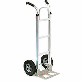 Magliner Aluminum Hand Truck With Double Handle Semi pneumatic Wheels