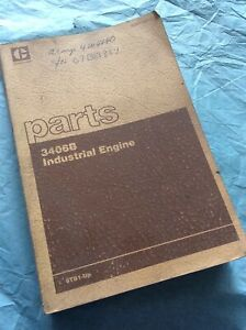 Cat Caterpillar 3406b Industrial Engine Parts Book Manual S n 6tb1 up Guide List