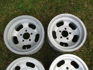 14 X 7 Slotted Mag Wheels Old School Slot 5x4 5 4 75 70 S Ansen Western