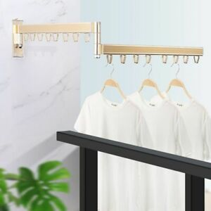 Wall Mounted Clothes Hanger Folding Multi function Drying Racks Aluminum Alloy