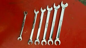 Vintage Snap On 5 Pc Sae Flare Nut Speed Wrench Set 3 8 5 8