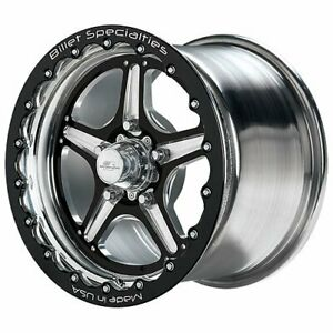 Billet Specialties Brsb351f6565 Street Lite Single Beadlock Black Wheel Size 15