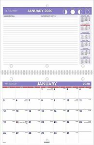 2020 At a glance 8 1 2 inch X 11 inch Monthly Desk wall Calendar pm170 28 20