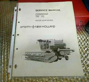 1976 New Holland Service Manual Combine Tr 70 Rotor Gear Boxes