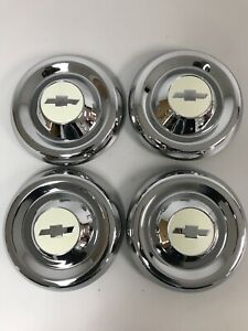 1955 1956 Chevy 1 2 Ton Truck Hubcaps new Chrome