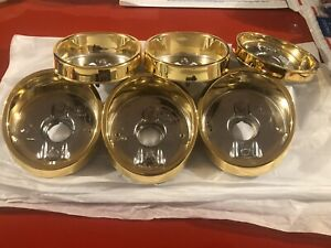 1964 Impala 24k Gold Plated Taillight Housing Bezel Set Of 6