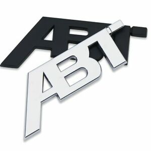 Auto Cars Body Side Decals Trunk Lid Badges Abs Plastics Abt Stickers Emblems