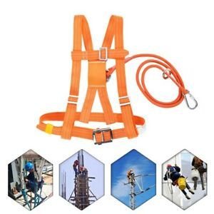 Outdoor Climb Harness Safety Belt Rescue Rope Aerial Work Safety Belt Adjustable