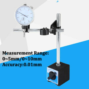 Dial Test Indicator Gauge Scale Precision 0 01mm Magnetic Base Holder Stand