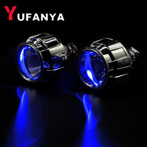 2 5 8 1 Bi Xenon Hid Projector Lens Devil Eyes Shrouds Headlight Retrofit H4 H7