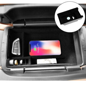 Wireless Car Center Console Armrest Charger Box For Bmw X5 F15 X6 2014 2018