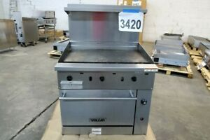 3420 Used Vulcan 36 Range With 36 Thermostat Griddle Oven Model 36s 36gtn