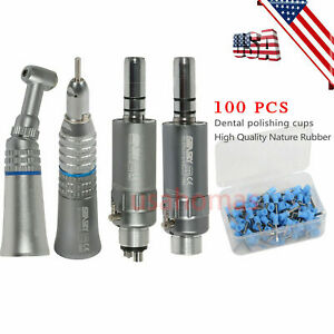 Nsk Style Dental Slow Handpiece Push Contra Angle Motor 100 Cup Blue Imxg