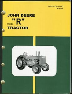 Vintage John Deere Model r Tractor Dealer Parts Catalog Pc 183cc
