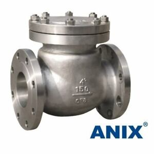 2 Ss Rf Flanged End Swing Check Valve Class 150 Stainless Steel Cf8m