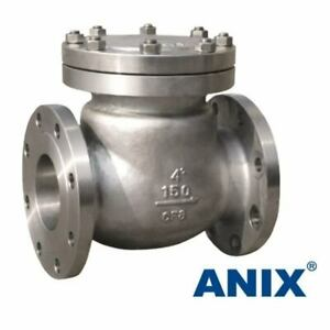 3 Ss Rf Flanged End Swing Check Valve Class 150 Stainless Steel Cf8m