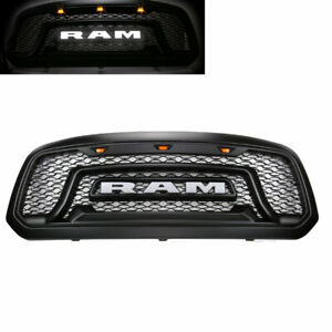 Front Grill Black Grille Rebel Style W Led Letter Fit For 2013 2018 Ram 1500