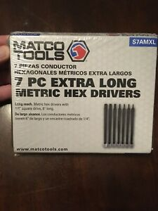 Matco Tools 1 4 Drive 7 Pc Extra Long Metric Hex Drivers New