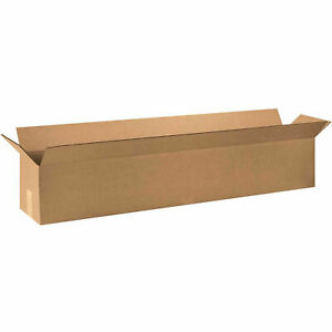 48 X 8 X 8 Long Cardboard Corrugated Boxes 65 Lbs Capacity Ect 32 Lot Of