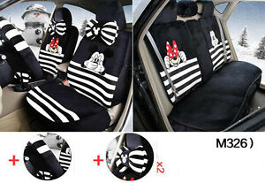 13pc set New Plush Cartoon Mickey Mouse Car Covers Universal Car Seat Cover M326
