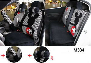 1 Set New Plush Cartoon Car Seat Cover Front And Rear Universal Seat Covers M334