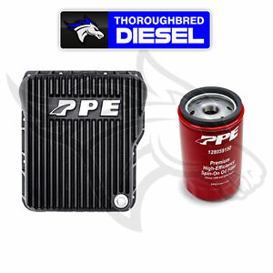 Ppe Deep Trans Pan Black For 01 20 Gm Duramax Allison W Double Deep Filter