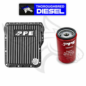 Ppe Deep Trans Pan Brushed For 01 20 Gm Duramax Allison W Double Deep Filter