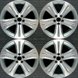 Toyota Highlander Machined W Silver Pockets 19 Oem Wheel Set 2008 To 2013