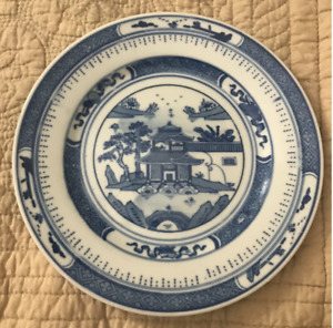 Chinese Export Plate 8 Nanking Canton Blue Willow Have More