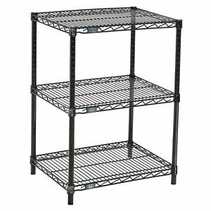 Black Wire Shelf Printer Stand 3 shelf 24 w X 18 d X 34 h