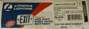 Lithonia Lighting Led Exit Sign With Battery 120 227