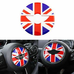 Red Blue Union Jack Car Steering Wheel Sticker Decal For Mini Cooper Countryman