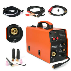 Used Tig mma mig 200 Welder 3in1 Combo Inverter Welder 110 220v Double Voltage