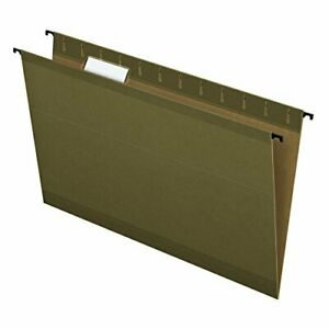 Pendaflex Surehook Reinforced Hanging File Folders Legal Size Standard Gree