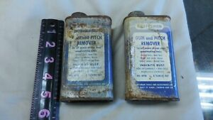 Two Vintage Tin Cans Craftsman Gum and Pitch Remover Cans--Empty