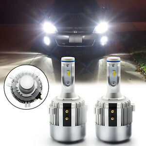 H7 Holder Adapter Bulbs Led Headlight Kit For Volkswagen Vw Golf Gti Passat Mk7
