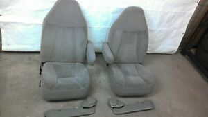 1994 1996 F150 F250 F350 Bronco Captains Chairs Front Seat Set Driver Right