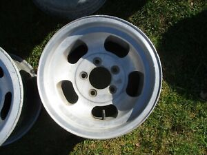 1 14 X 7 Slotted Mag Wheel Old School Slot Vintage 5 X 4 75 Et Ansen Chevy 14