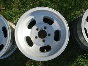 14 X 7 Us Indy Slotted Mag Wheel Old School Slot Vintage 5 X 4 5 Ford Mopar 18