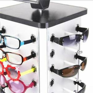Sunglasses Display Rack Spinner Rotatable Glasses Stand With Mirror For 44 Pairs
