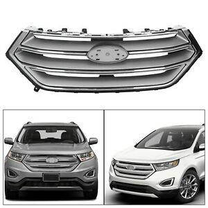 For 2015 2016 2017 2018 Ford Edge Front Upper Bumper Grill Grille Chrome