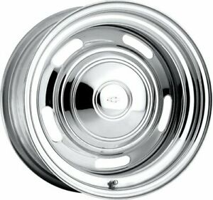U s Wheel 57 5650400 Chrome Rallye Wheel series 57 Size 15 X 6
