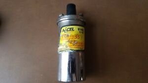 Accel 8140c Super Stock Universal Performance Ignition Coil 12v Used