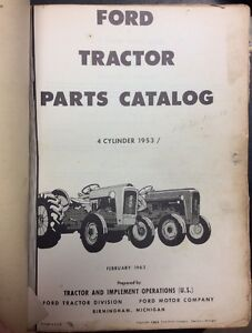 Original Vtg Ford 9n 2n 8n Tractor Repair Parts Catalog 1960 1953