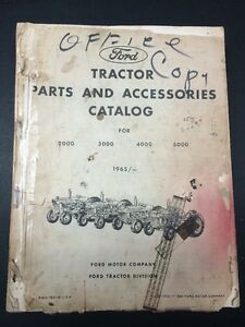 Original 1965 Ford Tractor Parts Accessories Catalog 2000 3000 4000 5000 Series