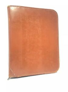 Vintage Genuine Leather Agenda Binder Desk Address Book