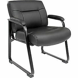 Big Tall Guest Chair Black Bonded Leather